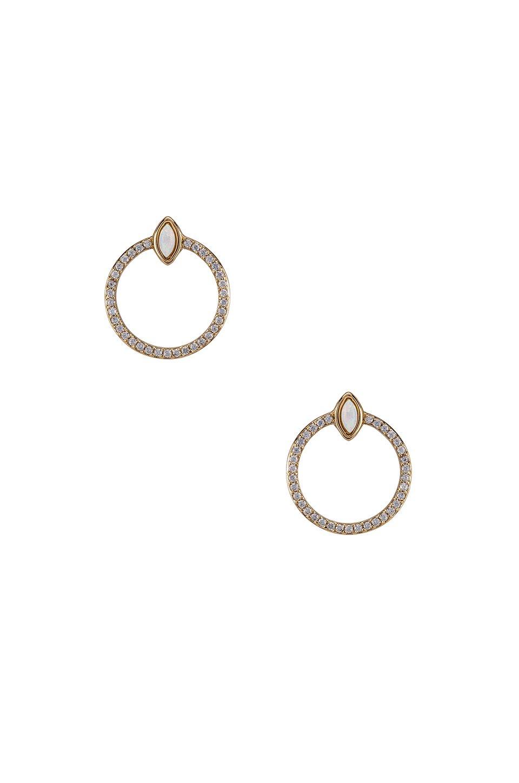 Gemstone Eye & CZ Earrings