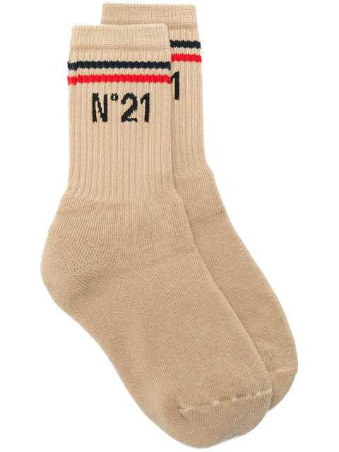 Nº21 Branded Ankle Socks $100 - Buy Online SS18 - Quick Shipping, Price