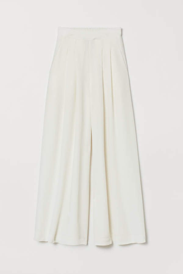 Wide-leg Pants - White