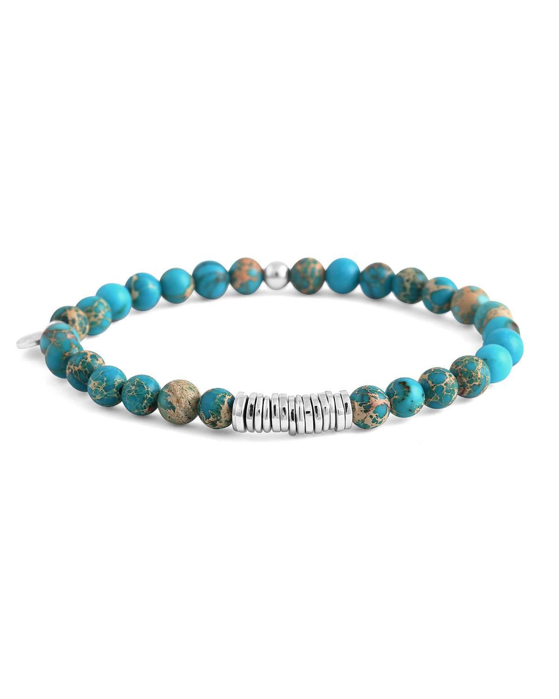 Tateossian Turquoise Beaded Disc Bracelet