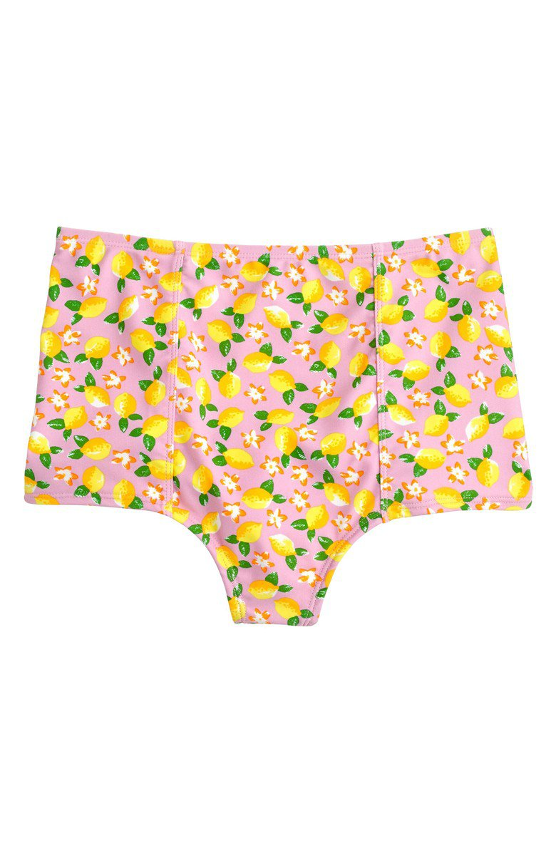 J.Crew Lemon Print High Waist Bikini Bottoms | Nordstrom