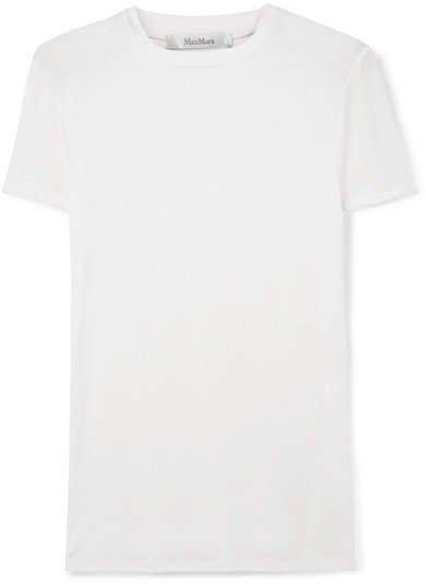 Stretch-jersey T-shirt - White