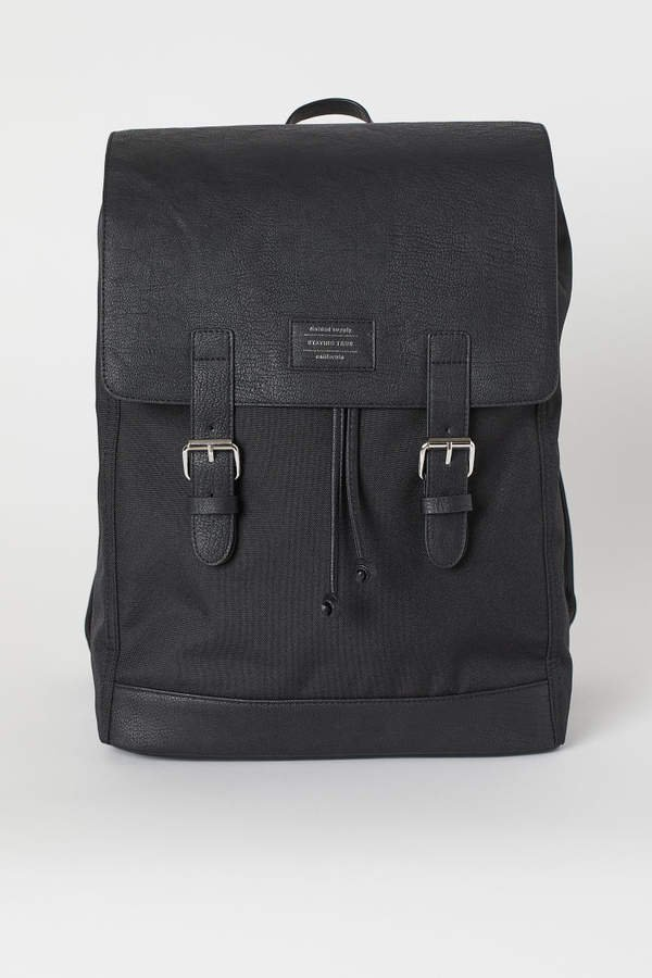 Backpack with Flap - Black