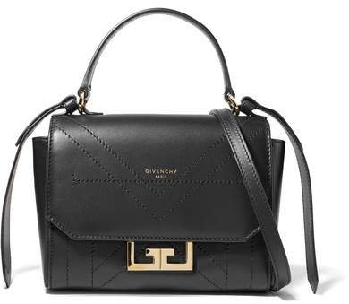 Eden Mini Leather Shoulder Bag - Black