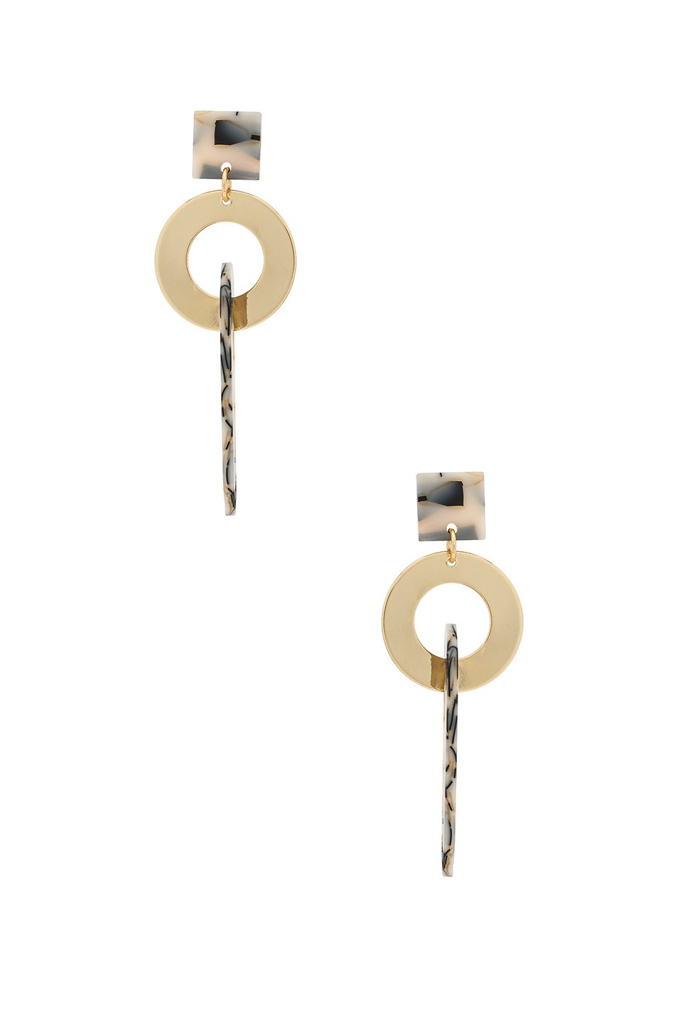 Geometric Chain Earring