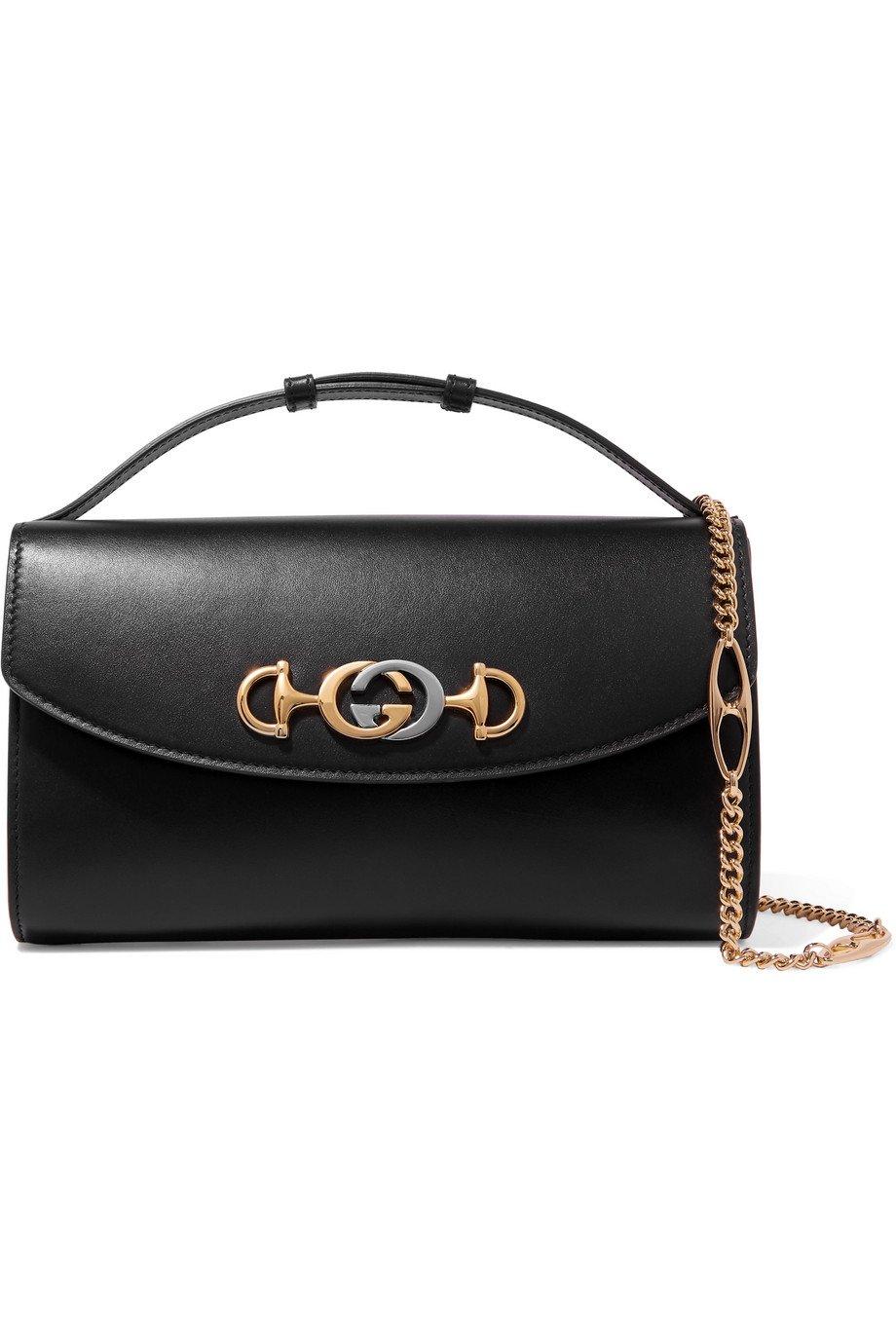 Gucci | Zumi small embellished leather shoulder bag | NET-A-PORTER.COM
