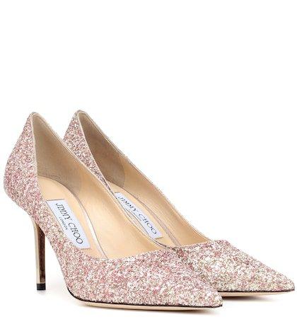 Love 100 glitter pumps