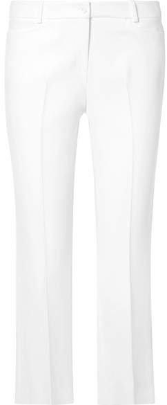 Stretch-crepe Straight-leg Pants - White