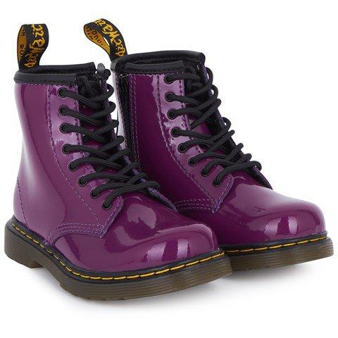 Magenta Leather Doc Marten Boots