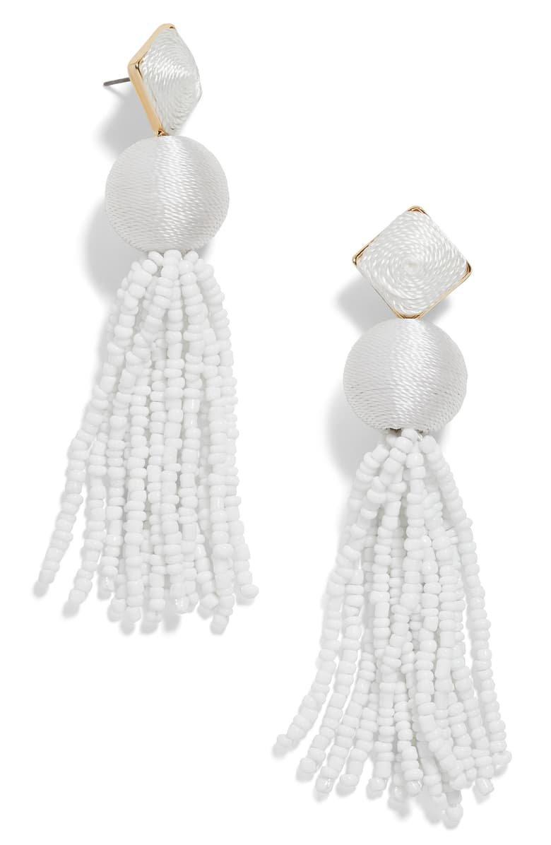 BaubleBar Azura Beaded Tassel Earrings   Nordstrom