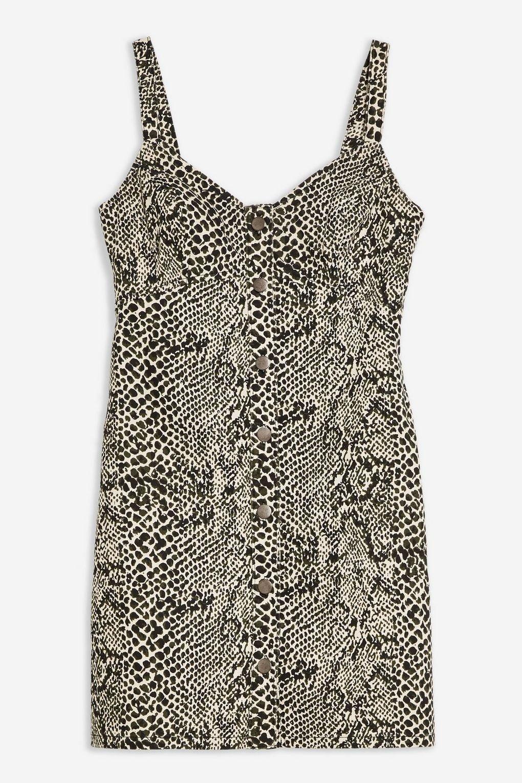 Snake Print Denim Bodycon Dress - Dresses - Clothing - Topshop USA