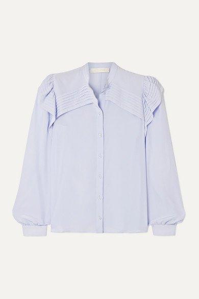 Chloé | Ruffled silk crepe de chine blouse | NET-A-PORTER.COM