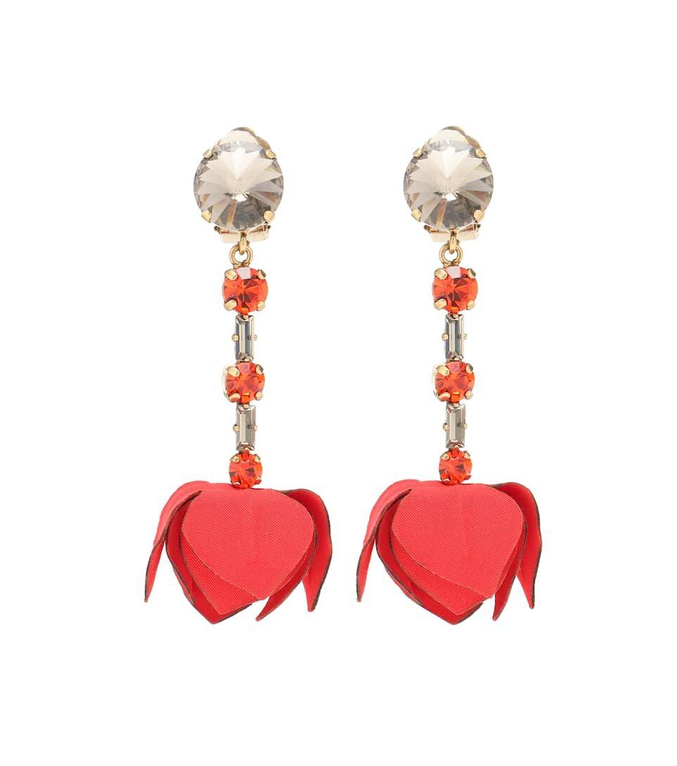 Crystal Clip-On Drop Earrings   Marni - Mytheresa