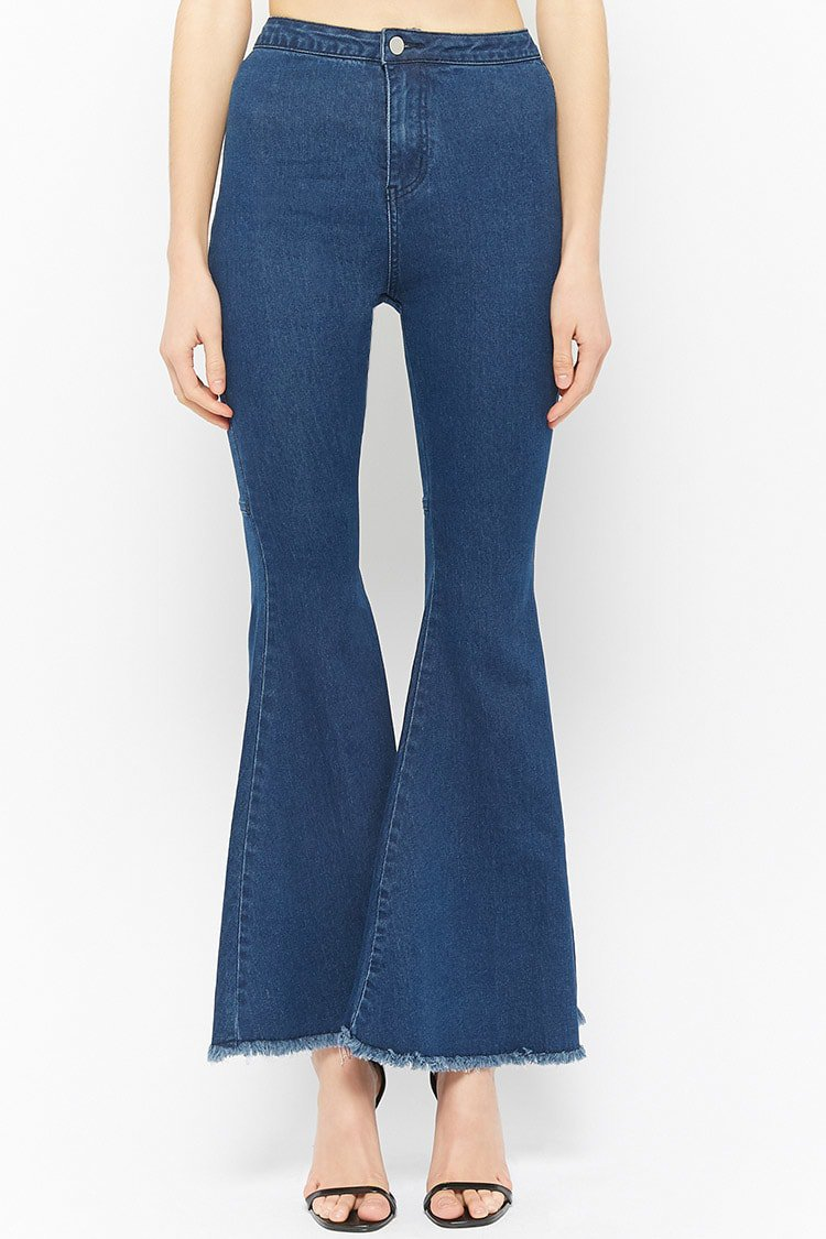 Frayed Flare Jeans