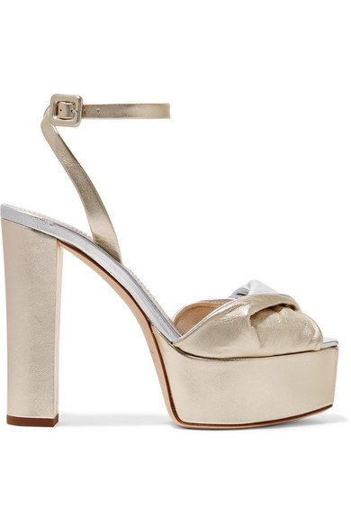 Giuseppe Zanotti | Lavinia metallic leather platform sandals | NET-A-PORTER.COM