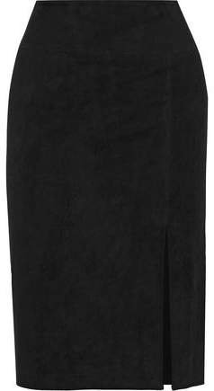 Tani Suede Pencil Skirt