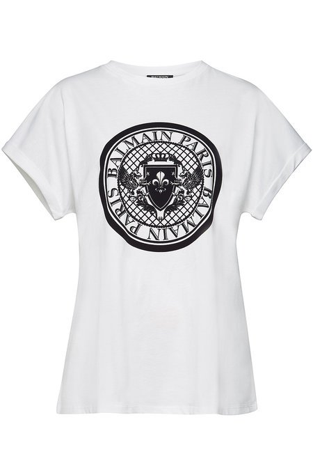 Balmain - Printed Cotton T-Shirt - white