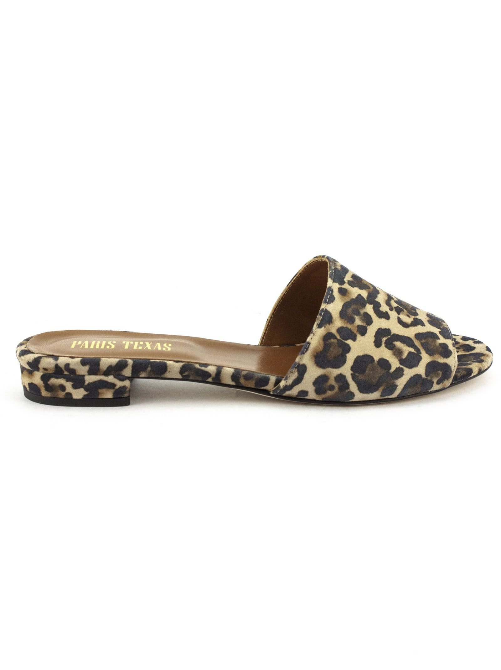 Paris Texas Brown Leather And Suede Slip-on Sandals