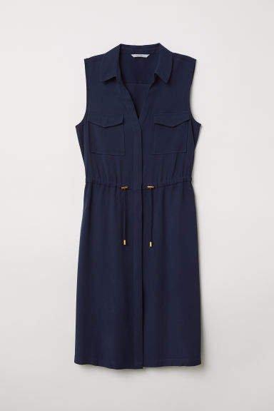 Sleeveless Dress - Blue