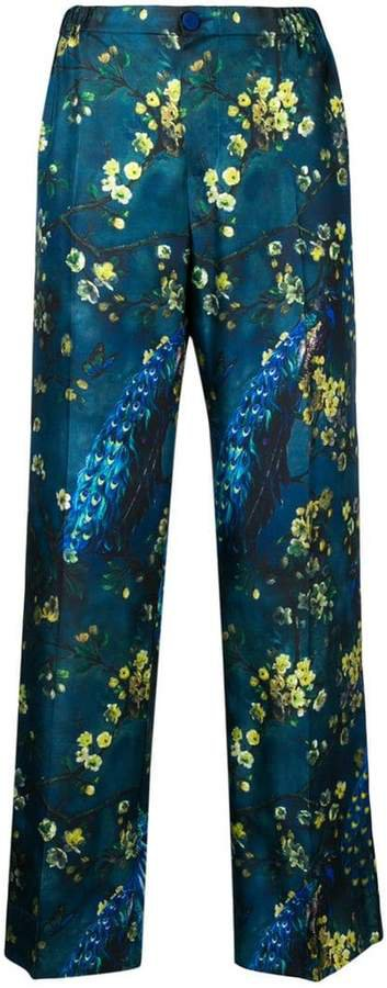 F.R.S For Restless Sleepers floral print satin trousers
