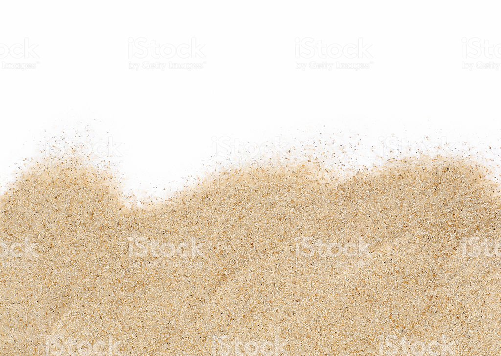Sand On White Background Stock Photo & More Pictures of Sand | iStock