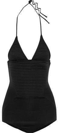 Quilted-paneled Halterneck Swimsuit