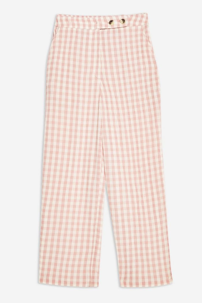 Gingham Peg Trousers | Topshop pink