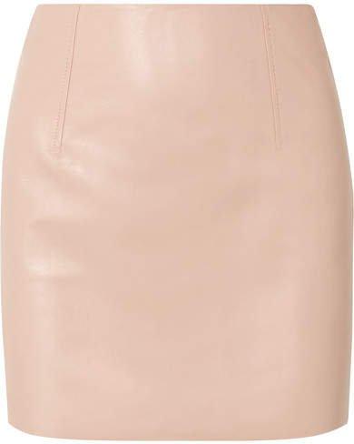 BLOUSE - Hell Raiser Leather Mini Skirt - Baby pink