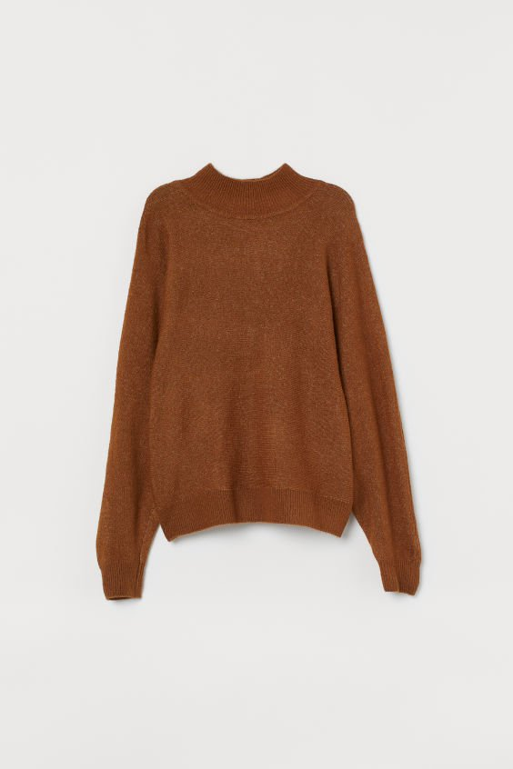 Fine-knit jumper - Brown - Ladies | H&M GB