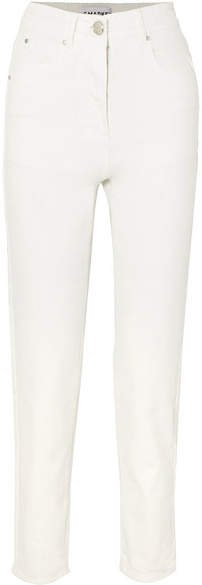L.F.Markey - Johnny High-rise Tapered Jeans - Ivory