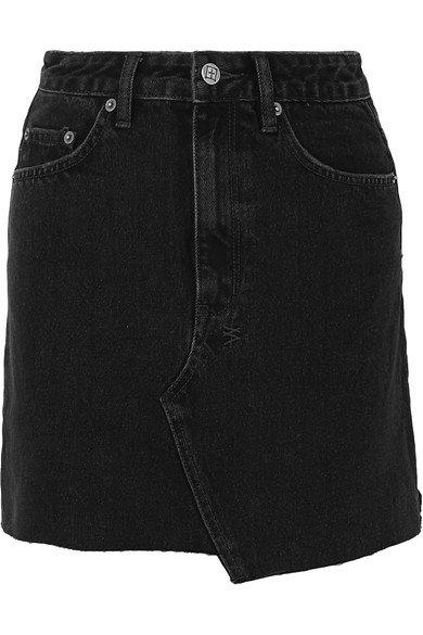 Ksubi | Hi Line Mini Venom distressed denim mini skirt | NET-A-PORTER.COM