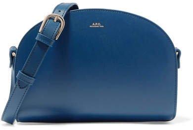Demi-lune Leather Shoulder Bag - Navy