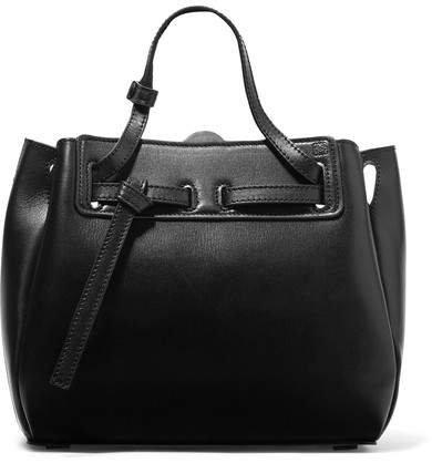 Lazo Mini Leather Tote - Black
