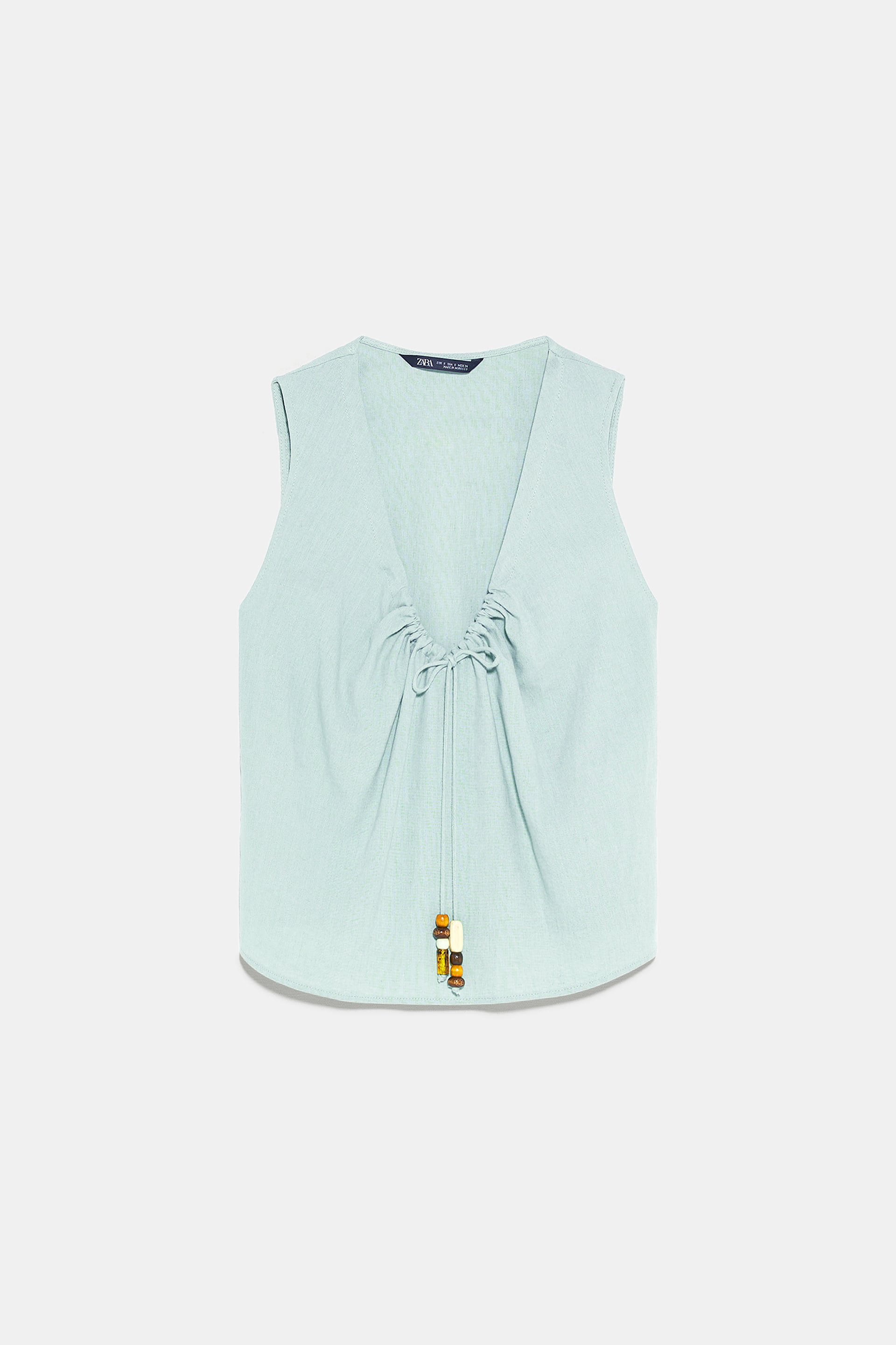 BEADED TIE BLOUSE - View All-SHIRTS | BLOUSES-WOMAN | ZARA United States