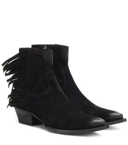 Lukas fringed suede ankle boots