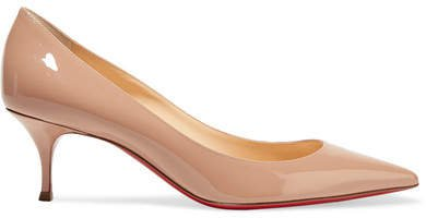 Pigalle Follies 55 Patent-leather Pumps - Baby pink