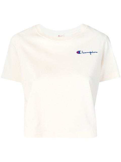 Champion logo embroidered crop T-shirt $45 - Buy Online - Mobile Friendly, Fast Delivery, Price
