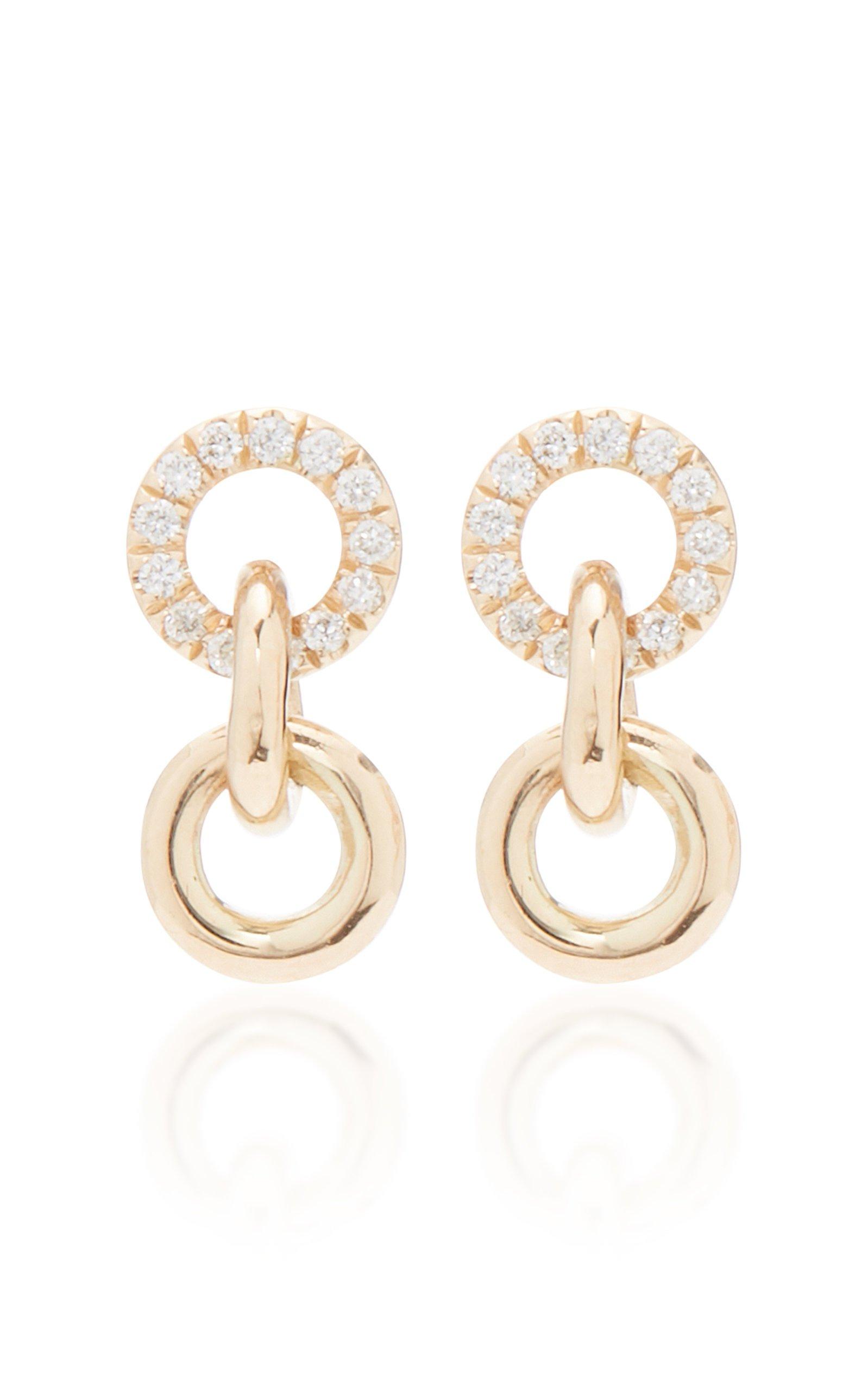 Sophie Ratner 14K Gold Diamond Earrings