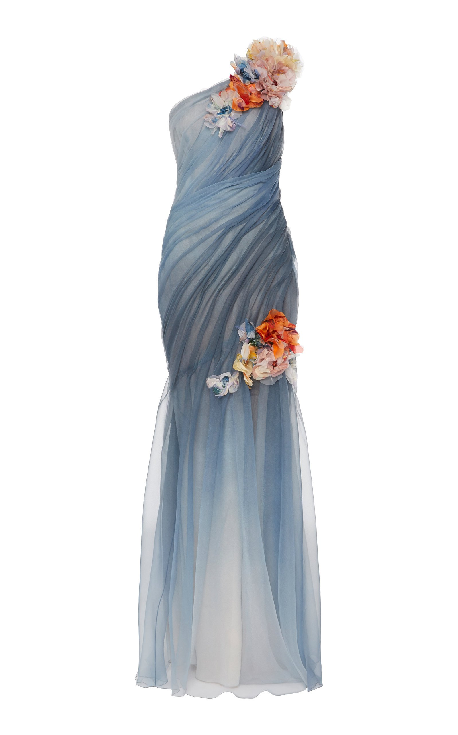 Marchesa Embellished Ombre Organza Gown