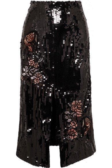 Markus Lupfer | Charlie sequined tulle midi skirt | NET-A-PORTER.COM