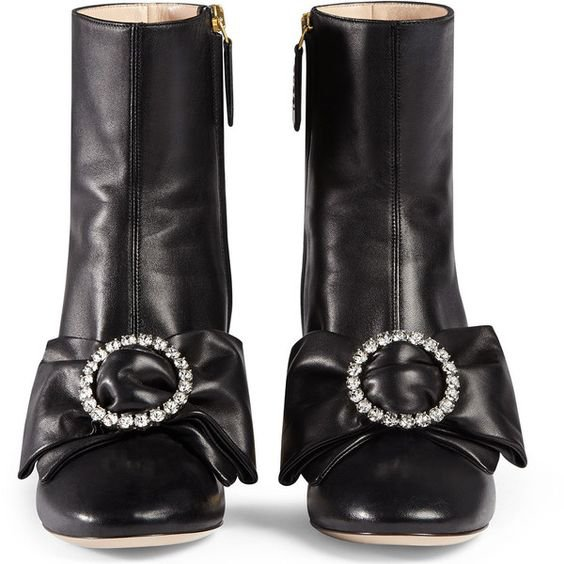 Gucci Candy Embellished Mid-Heel Bootie
