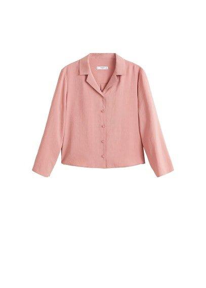 MANGO Textured flowy blouse