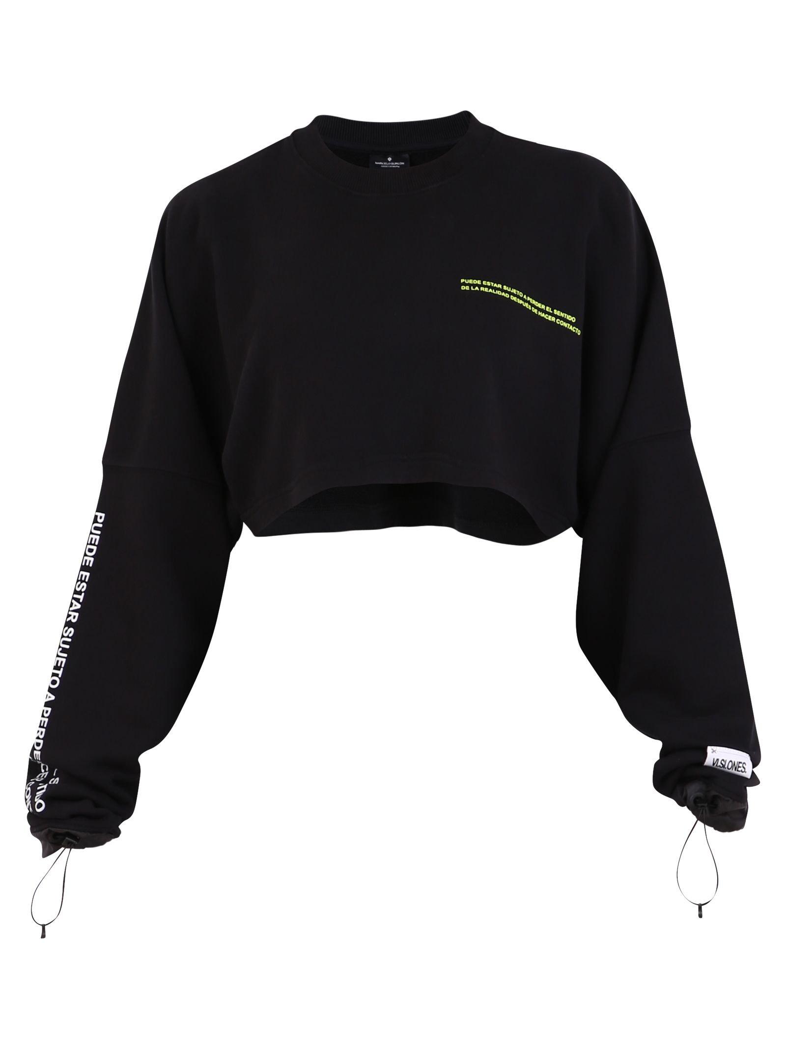 Marcelo Burlon Cropped Sweatshirt