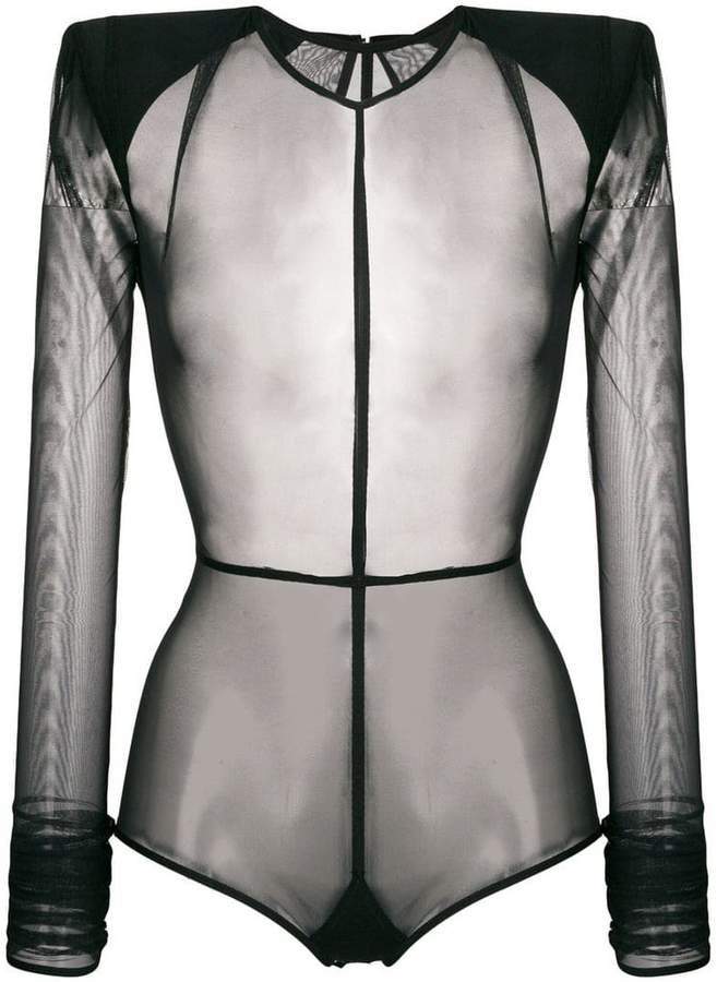 transparent bodysuit