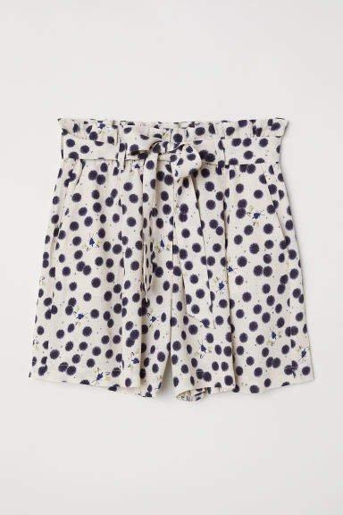 Paper Bag Shorts - White