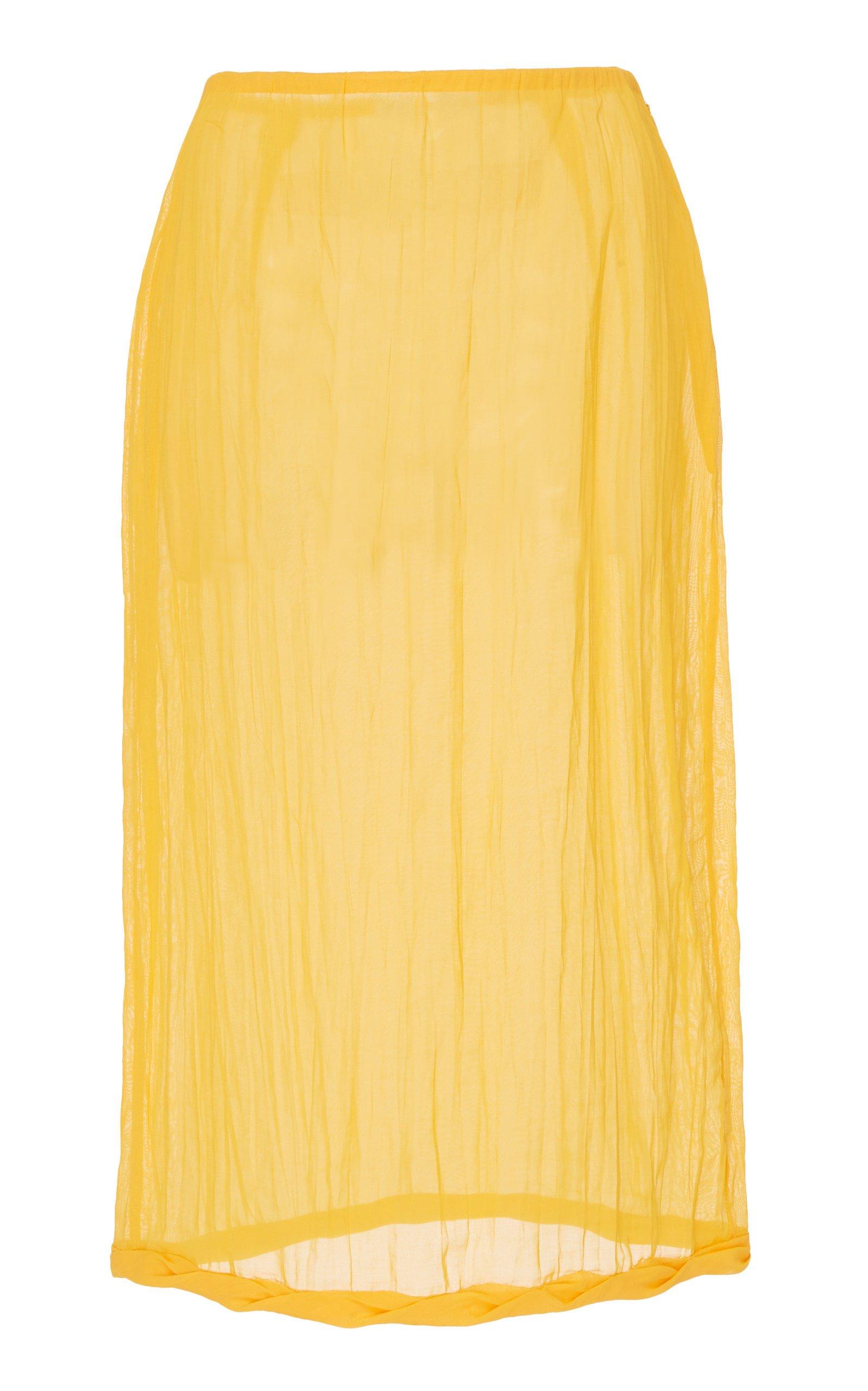 Rejina Pyo Dani Cotton Voile Pencil Skirt Size: 6