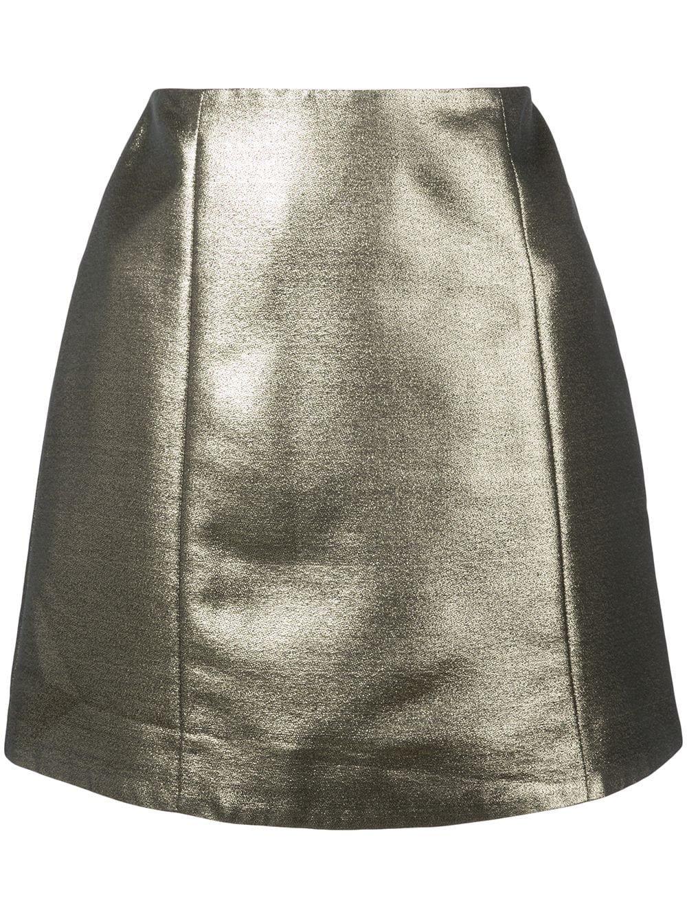 Alexa Chung Metallic Mini Skirt | Farfetch.com