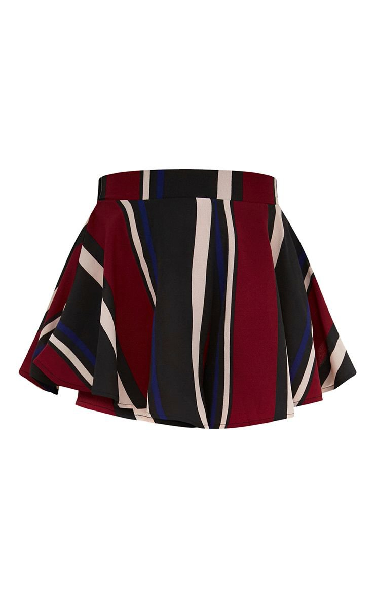 Berry Stripe Floaty Shorts