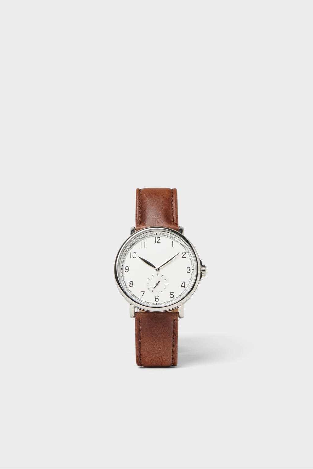 VINTAGE LOOK WATCH WITH BROWN LEATHER STRAP - NEW IN-MAN | ZARA United Kingdom