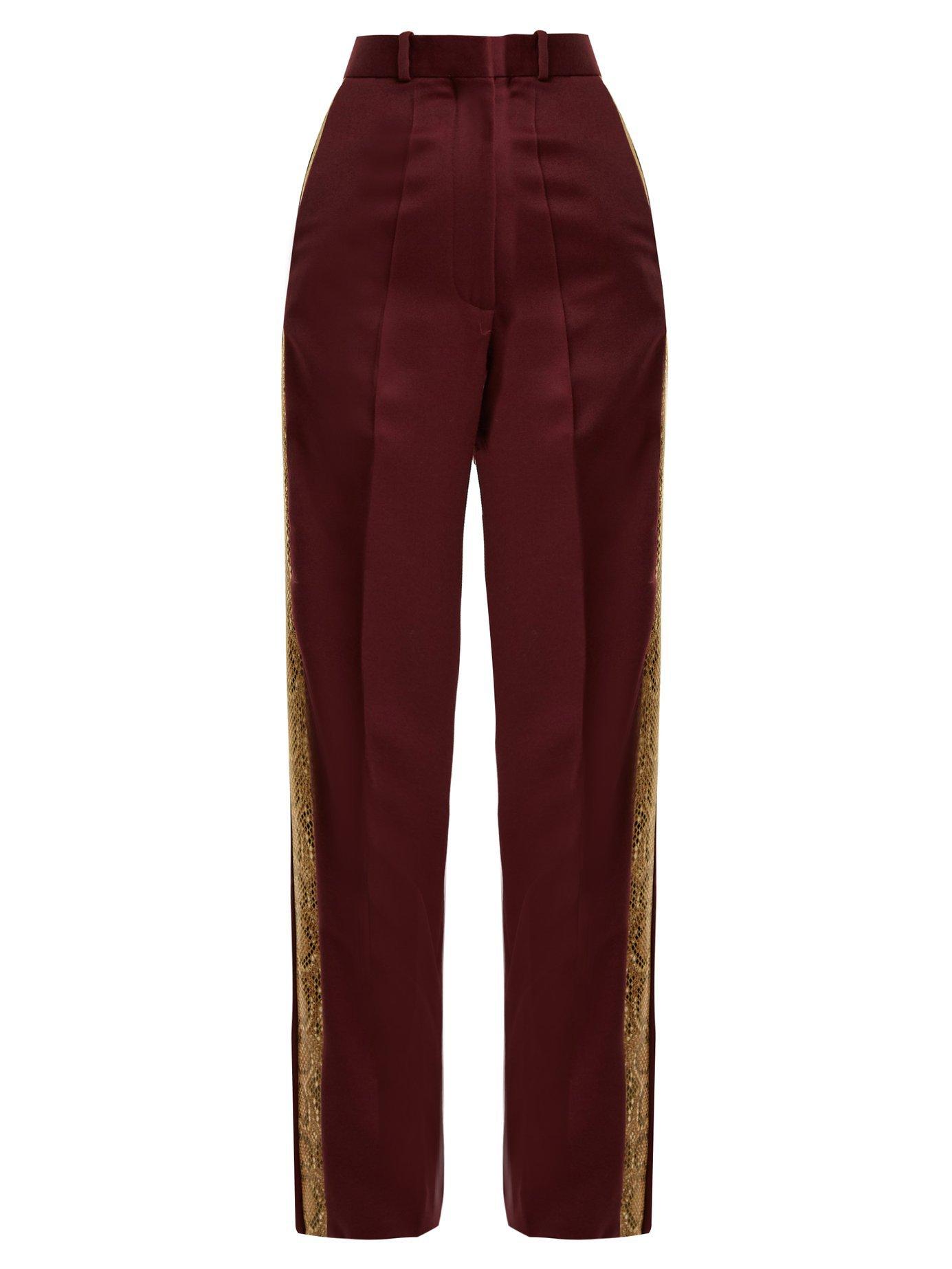 Bathorea faux snake-trimmed wool-blend trousers   Hillier Bartley   MATCHESFASHION.COM US